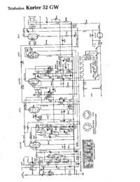 Schéma cirquit Telefunken Kurier 52 GW