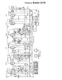 Cirquit Diagrama Telefunken Kurier 52 W