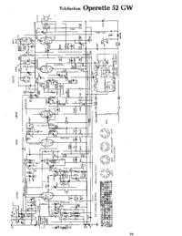 Cirquit Diagramma Telefunken Operette 52 GW