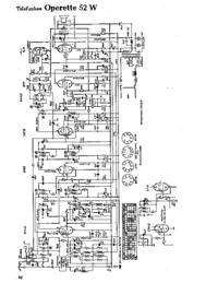 Diagrama cirquit Telefunken Operette 52 W