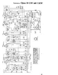 Schaltplan Telefunken Opus 50 GW