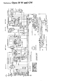 Cirquit Diagramma Telefunken Opus 50 W