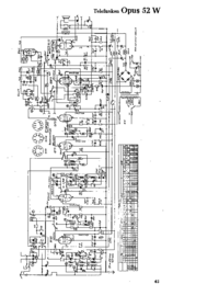 Cirquit Diagram Telefunken Opus 52 W