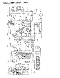 Схема Cirquit Telefunken Rhythmus 52 GW