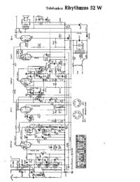 Cirquit Diagram Telefunken Rhythmus 52 W