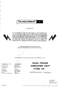 Servicio y Manual del usuario Telequipment V4