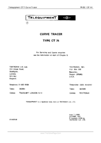 Serwis i User Manual Telequipment CT71