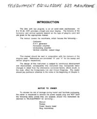 Servicio y Manual del usuario Telequipment D83