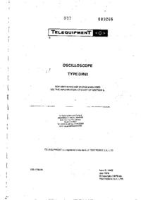 Instrukcja serwisowa Telequipment DM63