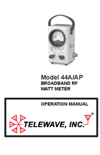 Manual del usuario Telewave 44AP