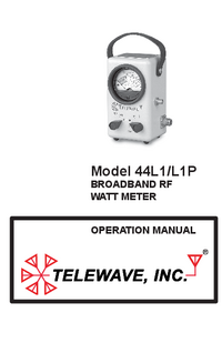Manual del usuario Telewave 44L1