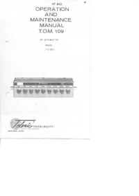 Serviceanleitung Telonic TG-950