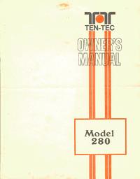 User Manual Ten_Tec 280