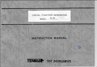 Servicio y Manual del usuario Tenma 72-380