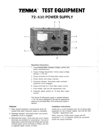 Технический паспорт Tenma 72-630