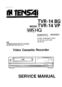 Manual de servicio Tensai TVR-14 BG