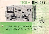 Обслуживание и Руководство пользователя Tesla BM 271