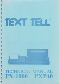 Serwis i User Manual Textell PX-1000