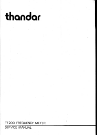 Service Manual Thandar TF200