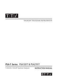 User Manual Thurlby PSA2701T