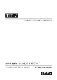 Instrukcja obsługi Thurlby PSA1301T