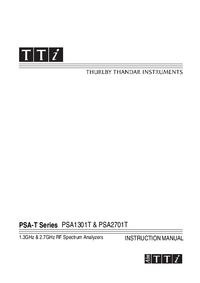 Instrukcja obsługi Thurlby PSA2701T