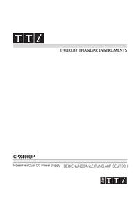 Bedienungsanleitung Thurlby CPX400DP