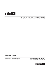 User Manual Thurlby QPX1200 Series