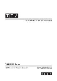 Instrukcja obsługi Thurlby TGA12100 Series