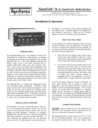 User Manual TigerTronics SignaLink SL-1+