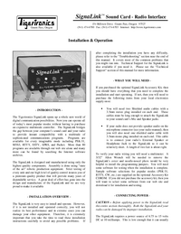 User Manual TigerTronics SignaLink