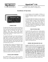 User Manual TigerTronics SignaLink USB