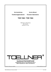 Fiche technique Toellner TOE 7404