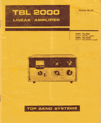 Service and User Manual Topbandsystems TBL 2000X