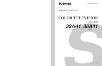 Serviceanleitung Toshiba 36A41