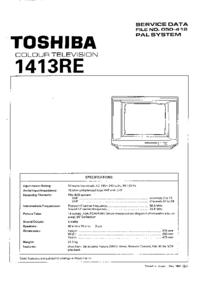 manuel de réparation Toshiba 1413RE