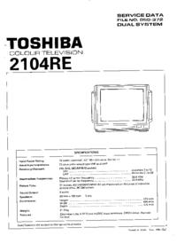 manuel de réparation Toshiba 2104RE