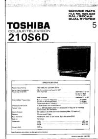 Manuale di servizio Toshiba 210S6D