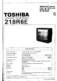 Service Manual Toshiba 218R6E