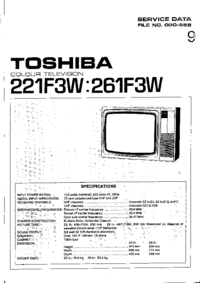 Руководство по техническому обслуживанию, cirquit схеме, только Toshiba 221F3W