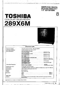 Instrukcja serwisowa Toshiba 289X6M