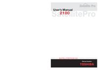 User Manual Toshiba Satellite Pro 2100