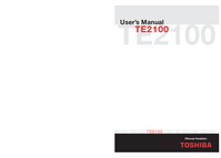 User Manual Toshiba TE2100