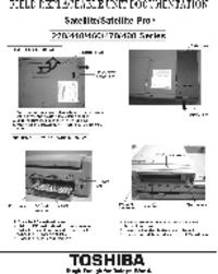 manuel de réparation Toshiba Satellite 460