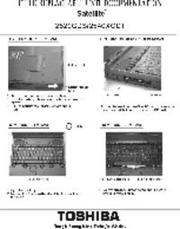 manuel de réparation Toshiba Satellite 2540XCDT