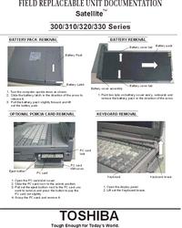 manuel de réparation Toshiba Satellite 330