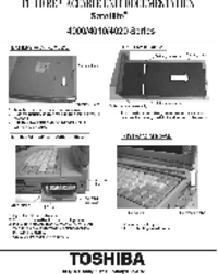 Manual de servicio Toshiba Satellite 4000