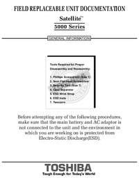 Manuale di servizio Toshiba Satellite 5000