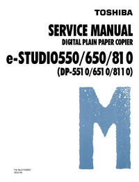 Manual de servicio Toshiba e-STUDIO 550