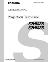 manuel de réparation Toshiba 52HM85